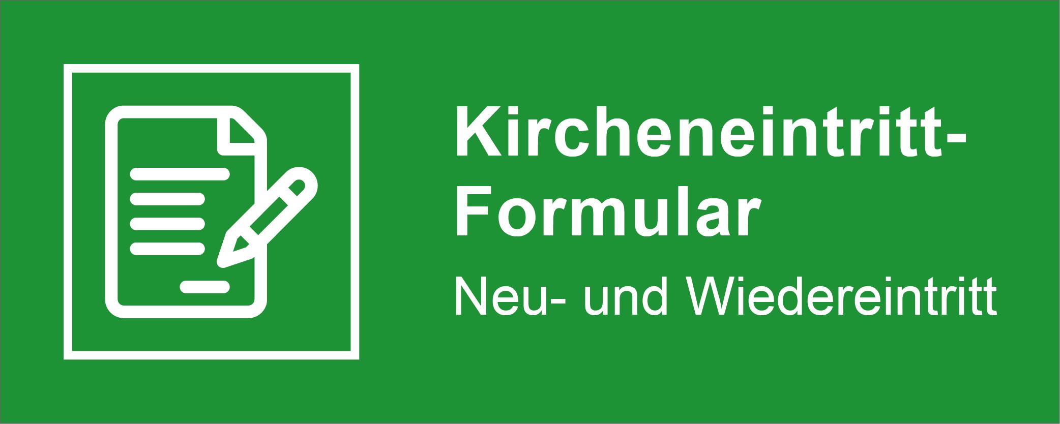 Kircheneintritt-Formular